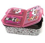 LOL Surprise Kinder Brotdose mit 3 Fächern, Kids Lunchbox,Bento Brotbox für Kinder - ideal für Schule, Kindergarten oder Freizeit