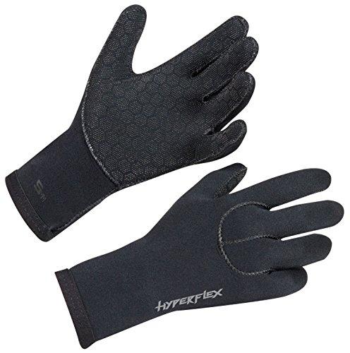 Hyperflex Wetsuits Men's 5mm Access Glove, Black, Medium - Surfing, Windsurfing & Wakeboarding