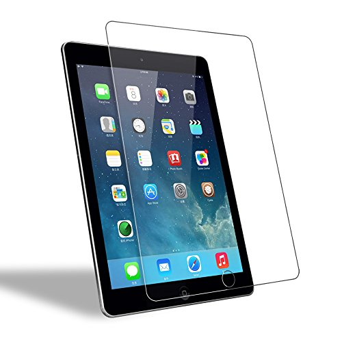 WEOFUN Kompatibel mit Panzerglas Schutzfolie iPad Air/iPad Air 2 / iPad Pro 9.7 [0.33mm, Anti-Kratzen, Anti Fingerprint, 9H Härte]
