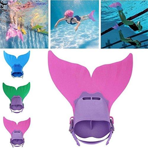 Sinwo Children Kids Mermaid Swim Fin Mermaid Monofin Tail Flipper Swimwear (Pink)