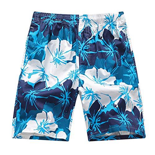 Herren Sommer Mode Lässig Schnell trocknend Druck Lose Strand Sport Shorts Hosen Summer Loose Printed Beach Shorts Blau XL 2XL 3XL 4XL 5XL 6XL