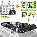XCAR roof rack + net + straps