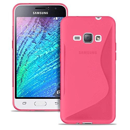 Cover Sottile S-Line per Samsung Galaxy J1 (2016) | Borsa Tinta Unita in Rosa