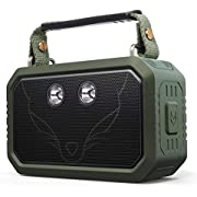 DOSS Traveler Wireless Portable Bluetooth Speakers with Waterproof IPX6, 20W Stereo Sound and Bold Bass, 12H Playtime, Durable for Phone,Tablet, TV, Gift Ideas-Green
