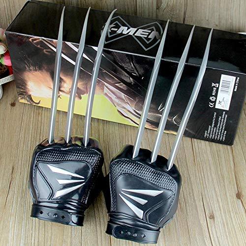 BLL Wolverine-Krallen Handschuhe (1 Paar), tragbares Fäustling-PVC-Spielzeug im Maßstab 1: 1, Cosplay-Requisiten für Kinder