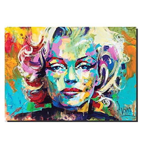 Graffiti Realismus Canvas Print Marilyn Monroe Portrait Paintings Pop Art Colorful Wall Art Stampe Su Tela Art Stampa Giclée Immagini Per Decor Della Parete, Unframed,50×75cm