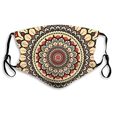 HOTBABYS Mandala Art Reusable Activated Carbon Filter Face Covering with Replaceable Filter for Men Women S