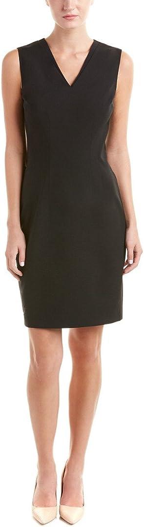 Elie Tahari Women's Gwenyth Seasonless Wool V-Neck Sheath Dress