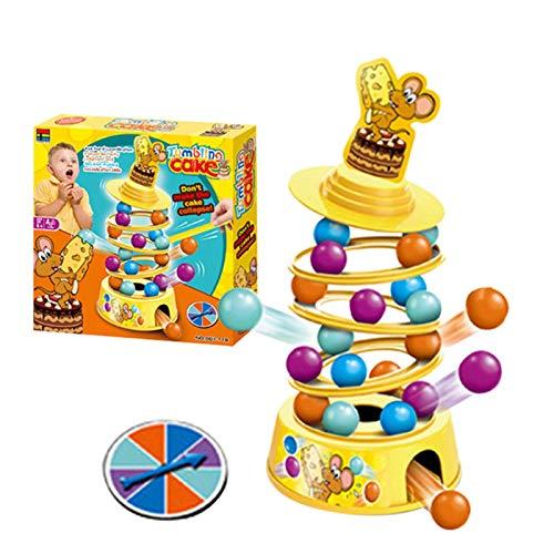 Wenhe Tower Stacking - Juego de mesa de motricidad fina, juguete para niños y adultos, para bebés y niños pequeños a partir de 6 meses