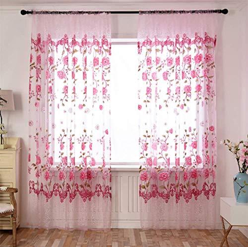 cortinas habitacion rosa degradado