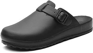 SKREOJF Men Sandals Summer Shoes Rubber Clogs Unisex Garden Shoes Black Beach Flat Men (Color : Black, Size : 39)