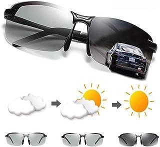 サングラス - フォトクロミックサングラス メンズ 偏光 ドライブ カメレオン メガネ メンズ チェンジ カラー サングラス HD デイナイト ビジョン ドライビング アイウェア