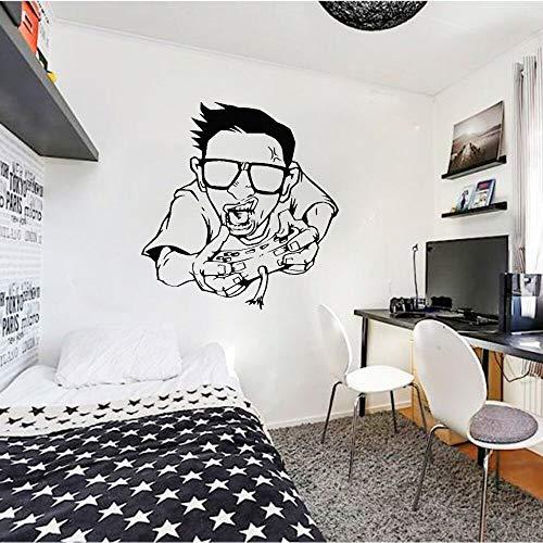 Pegatinas de pared player cool boy dormitorio art calcomanías para sala de estar patrón de vinilo papel tapiz decoración del hogar