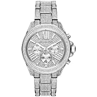 Michael Kors Wren Chronograph Stainless Steel Women's Watch (Silver/Pave Top Ring)