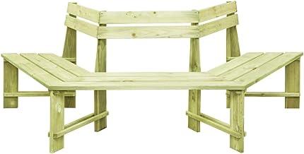 Panchina da Esterno in Legno di Pino Impregnato 160x55x89 cm Panchina da Giardino Tidyard