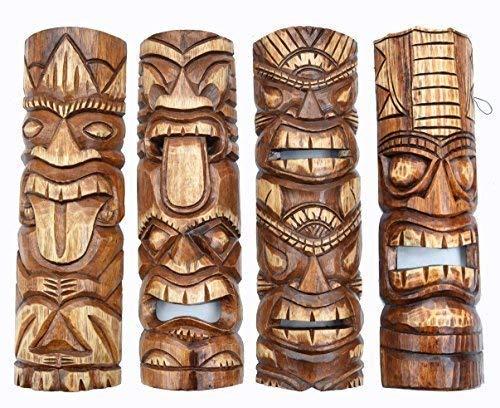 Interlifestyle 4 Tiki Máscaras 50cm Im Hawai Estilo Kit de