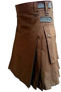 Kstare Steampunk Men Skirt Scottish Kilt Traditional Sport Gothic Plus Size Costume Pocket Wrap Victorian Dress Pants