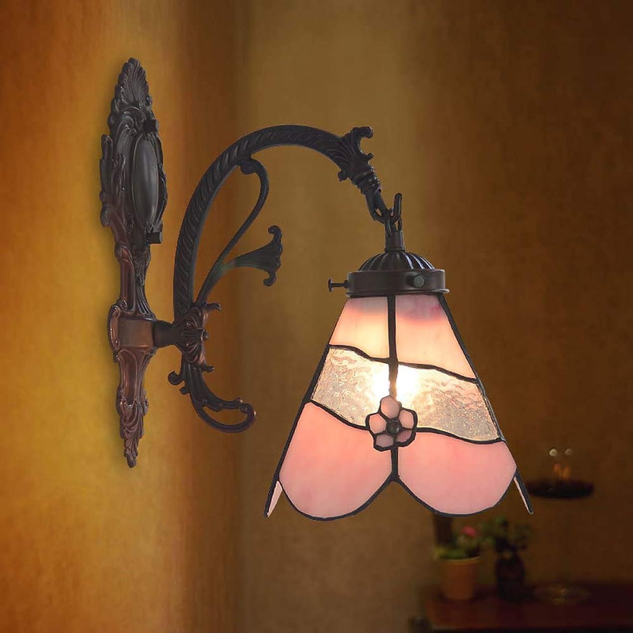 アクション誤ティファニースタイルウォールランプ、立体フラワーデザイン壁照明ランプ、バスルームウォールライトカフェホテルクラブアートコリドーライト/