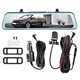 11.66in Auto 1080P DVR Dash Cam, Driving Video Recorder Ultra-thin HD Car Camera, with Motion...