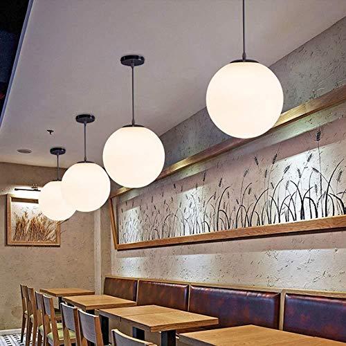 Lámpara de techo,Bubble Ball Candelabro Simple Bola De Cristal Esférico Single-Head Candelabro Personalidad Restaurante Bar Tienda De Ropa Araña Pasillo E27 Tornillo Convencional De 30Cm De Diámet