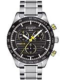 Tissot T100.417.11.051.00 PRS 516 cronógrafo reloj de hombre con esfera negra