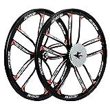 BBR Tuning 26 Inch Heavy Duty 10 Spoke STAR Motorized Bike Mag Wheel Set (Black)