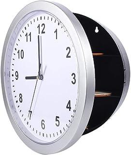 خزنة تحويل ساعة الحائط - ساعة حائط سرية مخفية مع تخزين داخلي سري للمجوهرات والنقود والأشياء الثمينة