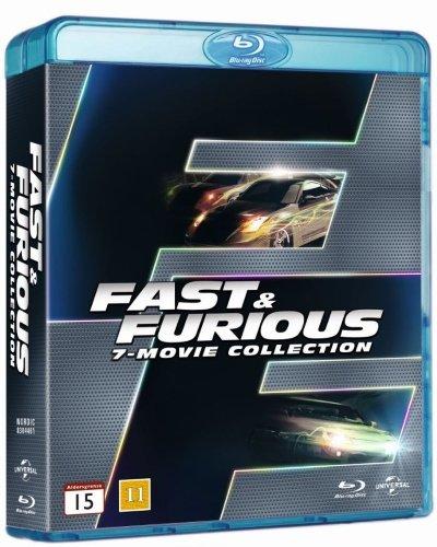 Fast & Furious 1-7 Blu Ray (Region Free, Import)