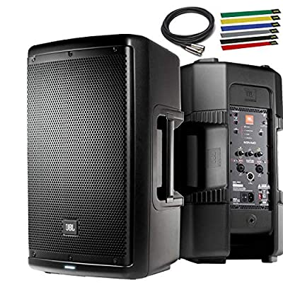 "JBL Professional EON610 Portable 10"" 2-Way Multipurpose Self-Powered Sound Reinforcement Speaker with 10ft XLR and Cable Ties by JBL"