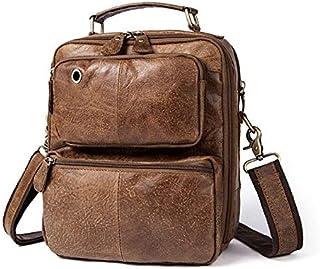 YXHM AU Men's Genuine Leather Male Scrub Single Shoulder Bag (Color : Frosted Brown)
