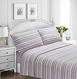 Pimpamtex – juego de sábanas termales estampadas para invierno térmicas para cama – (cama 150, loreto malva)