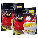 Trung Nguyen - G7 3 In 1 Instant Coffee - 22 Sachets (2 Pack - 44 sachets) | Roasted Ground Coffee Blend with Creamer and Sugar, Suitable for Most Coffee Brewing Methods, (16gr/sachet)