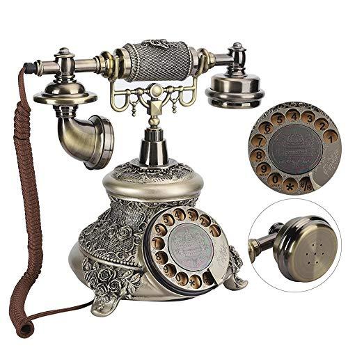 Sxhlseller Teléfono - Teléfono de Marcación Giratoria Vintage para la Oficina del Hotel Home House - Mesas de Teléfono de Estilo Clásico/Salas de Estar/Dormitorios/Hoteles
