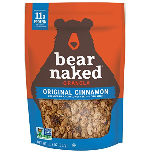 Bear Naked Original Cinnamon Granola - Non-GMO, Kosher, Vegetarian Friendly - 11.2 Oz