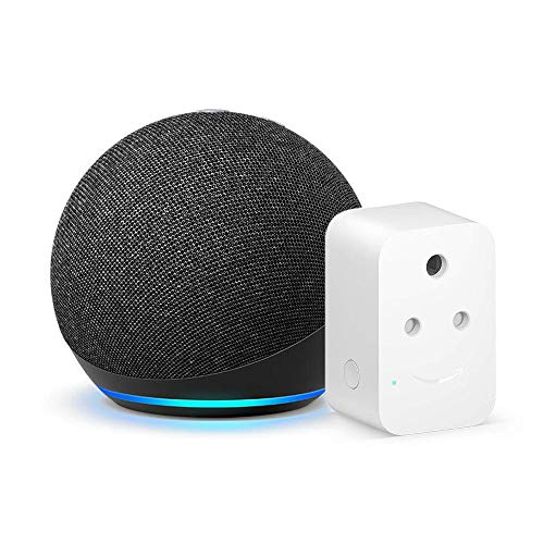 Echo Dot (4th Gen, Black) Combo with Amazon Smart Plug
