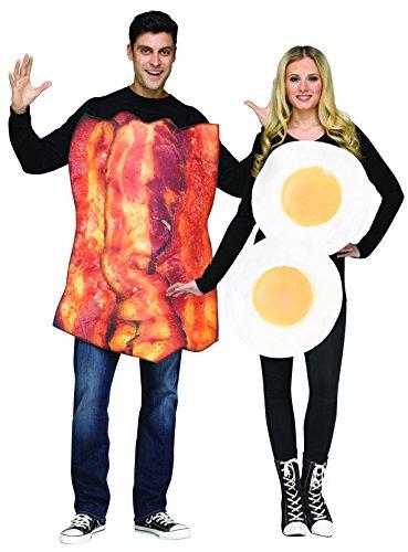 FunWorld Costume di Coppia Uova e Bacon