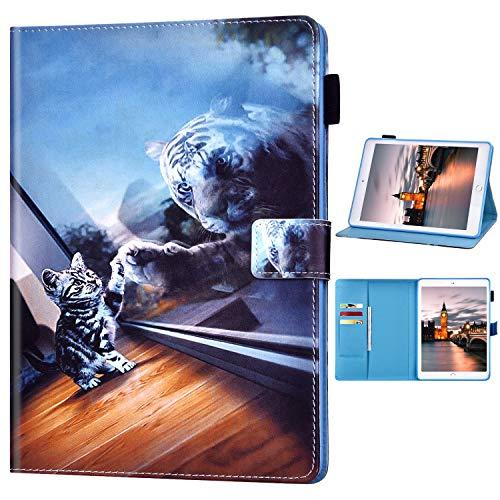 Funda Compatible con iPad Mini 1/2/3/4/5.Ultradelgado Flip PU Cuero Patrón 3D Premium...