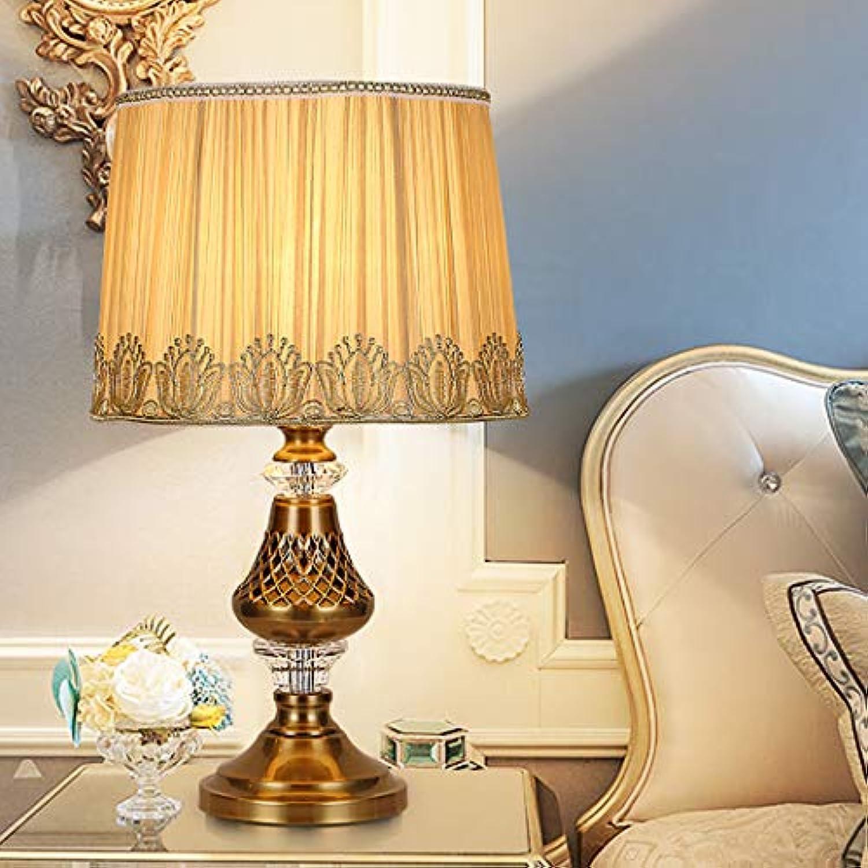 ZIXUAA European Minimalist Fashion Kristall Tischlampe Arbeitszimmer Wohnzimmer Bett Stehlampe-A