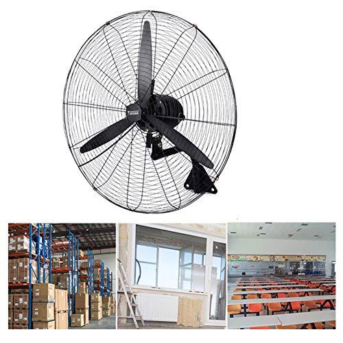 HLILY Ventilatore da Parete Industriale,inclinazione/3 Pale Oscillante,3 velocità,Ventilatore Elettrico Raffreddamento,Ventilatore A Muro per Uragano per Commerciale/Officina(55-78cm)