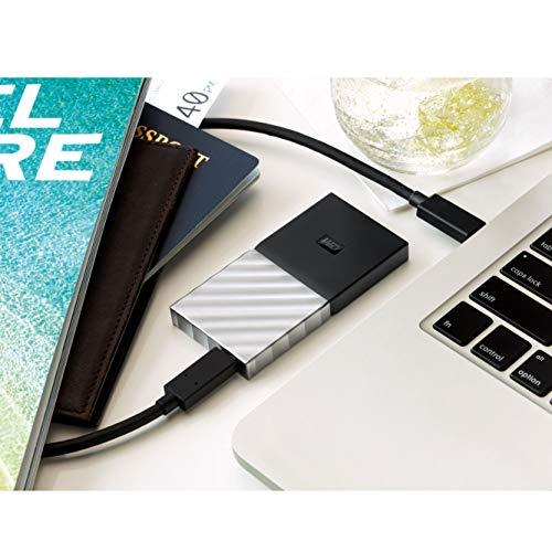 Western Digital WDBKVX5120PSL-WESN My Passport Portable SSD 512GB, Schwarz/Metallic