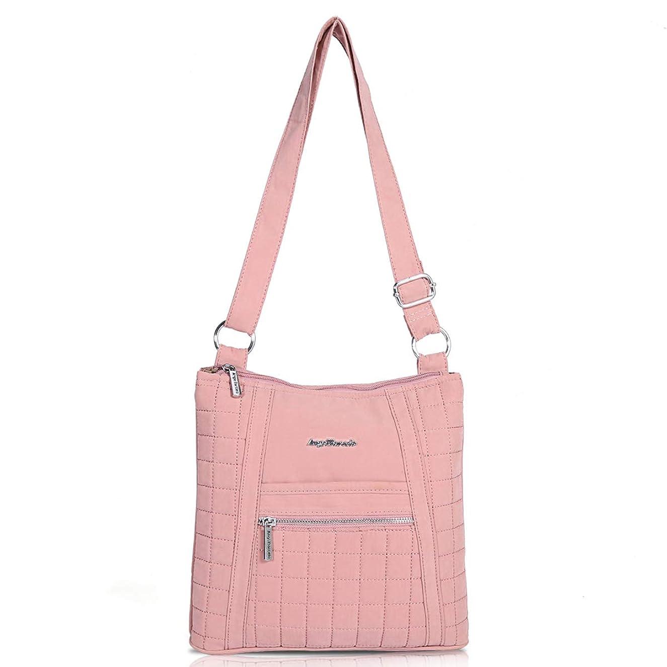 Angel Barcelo Womens Retro Sling Shoulder Bag Soft Cotton Cross Body Tote Handbag