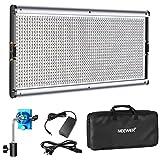 Neewer Luz LED Regulable de Iluminación Video con Marco de Metal 1320 Bombillas LED 3200-5600K, Adaptador DC/Opciones Energía Batería para Retratos de Estudio(Batería No Incluye)