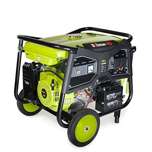 Böhmer-AG WX5000-e Power Generator/Portable Gasoline Generator Set - Starter 7500W - 9.4 kVA - 13 HP