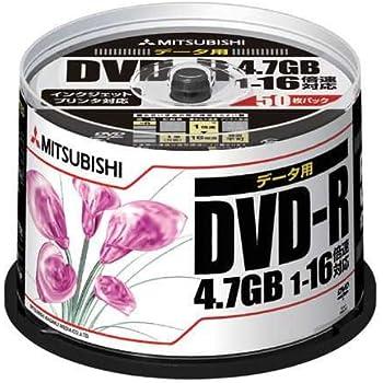 三菱ケミカルメディア データ用DVD-R 1回記録用 4.7GB 1-16倍速 50枚50P IJ対応(ホワイト) DHR47JPP50
