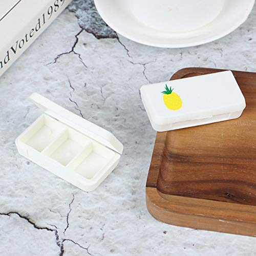 shenlanyu Pastillero 3 Lattices Mini Organizador Case Pill Box Tablet Flamingo Cactus Leaf Pill Box Dispenser Medicine Boxes Dispensing Medical Kit C