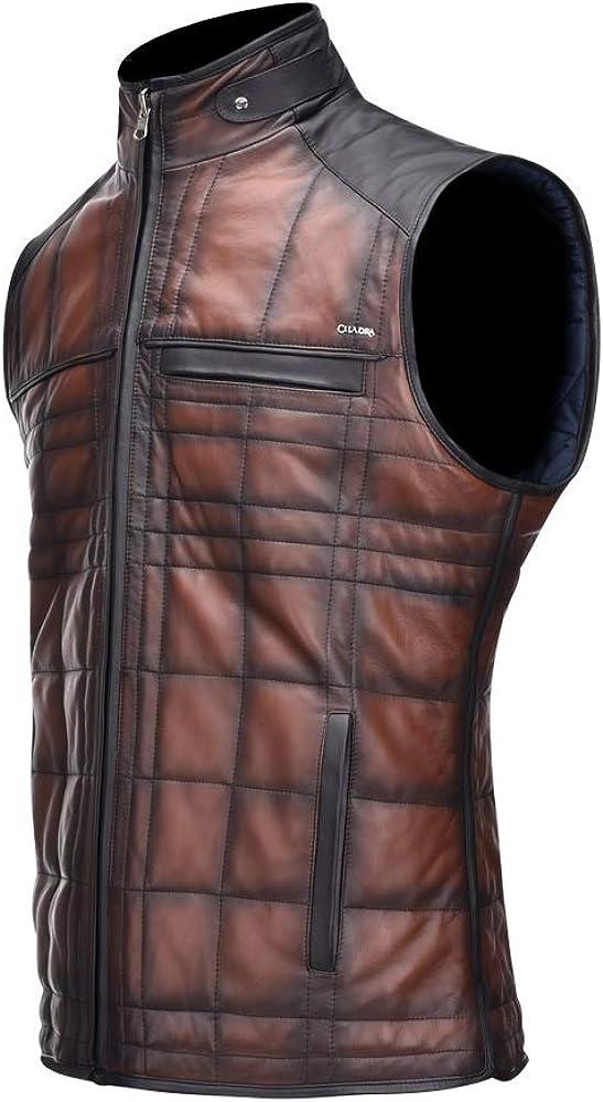 CUADRA Men's Reversible Vest in Genuine Leather