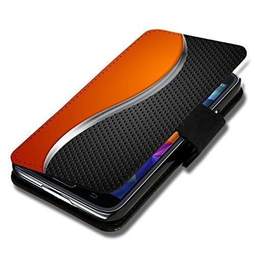 sw-mobile-shop Book Style Flip Handy Tasche Case Schutz Hülle Schale Motiv Foto Etui für Wiko Ridge Fab 4G - X3 Design6