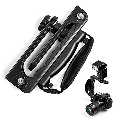 Fotover Soporte de flash de cámara plegable rápido para cámaras con toma...