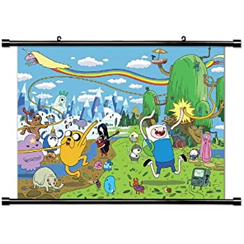 Amazon Com Adventure Time Tv Show Cartoon Network Fabric Wall Scroll Poster 32 X 25 Inches Posters Prints
