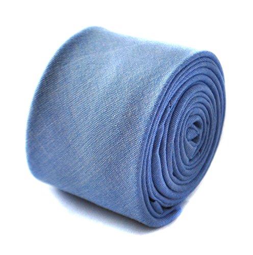 Frederick Thomas bleu clair skinny style lin cravate